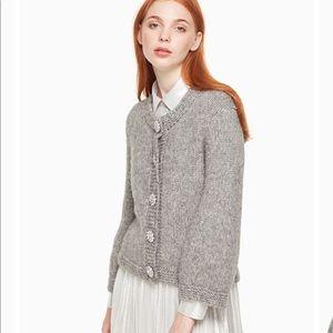 Kate Spade Crystal Button Cloud Cardigan